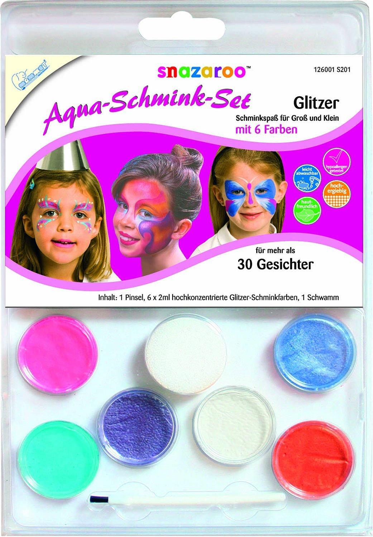 Mammut 126001 - Snazaroo Schminkset - Glitzer 6 Farben Iden