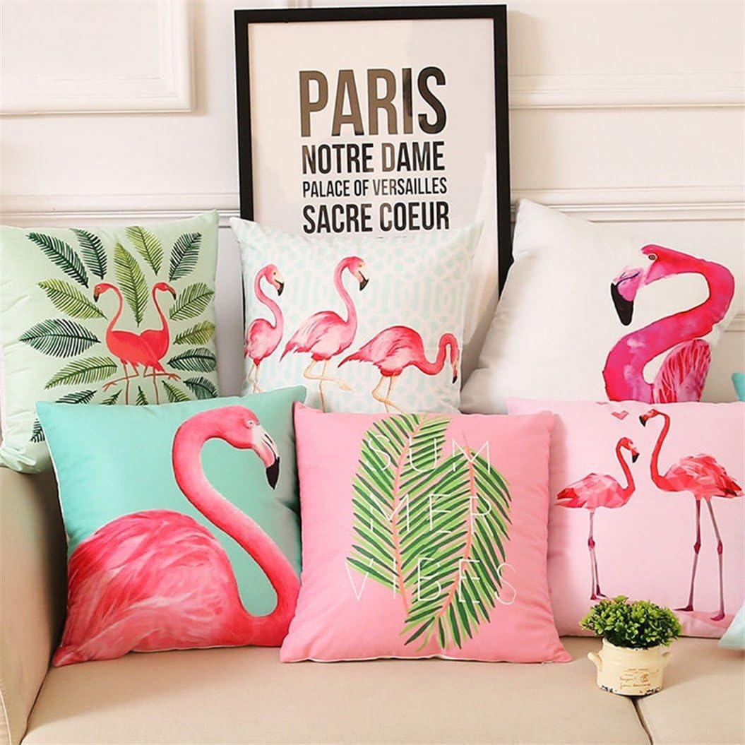 Polyester display08 45,7/cm Cute Flamingo Couvre-lit Taie doreiller Taille Canap/é Housse de coussin Home Decor 17.72 x 17.72 2