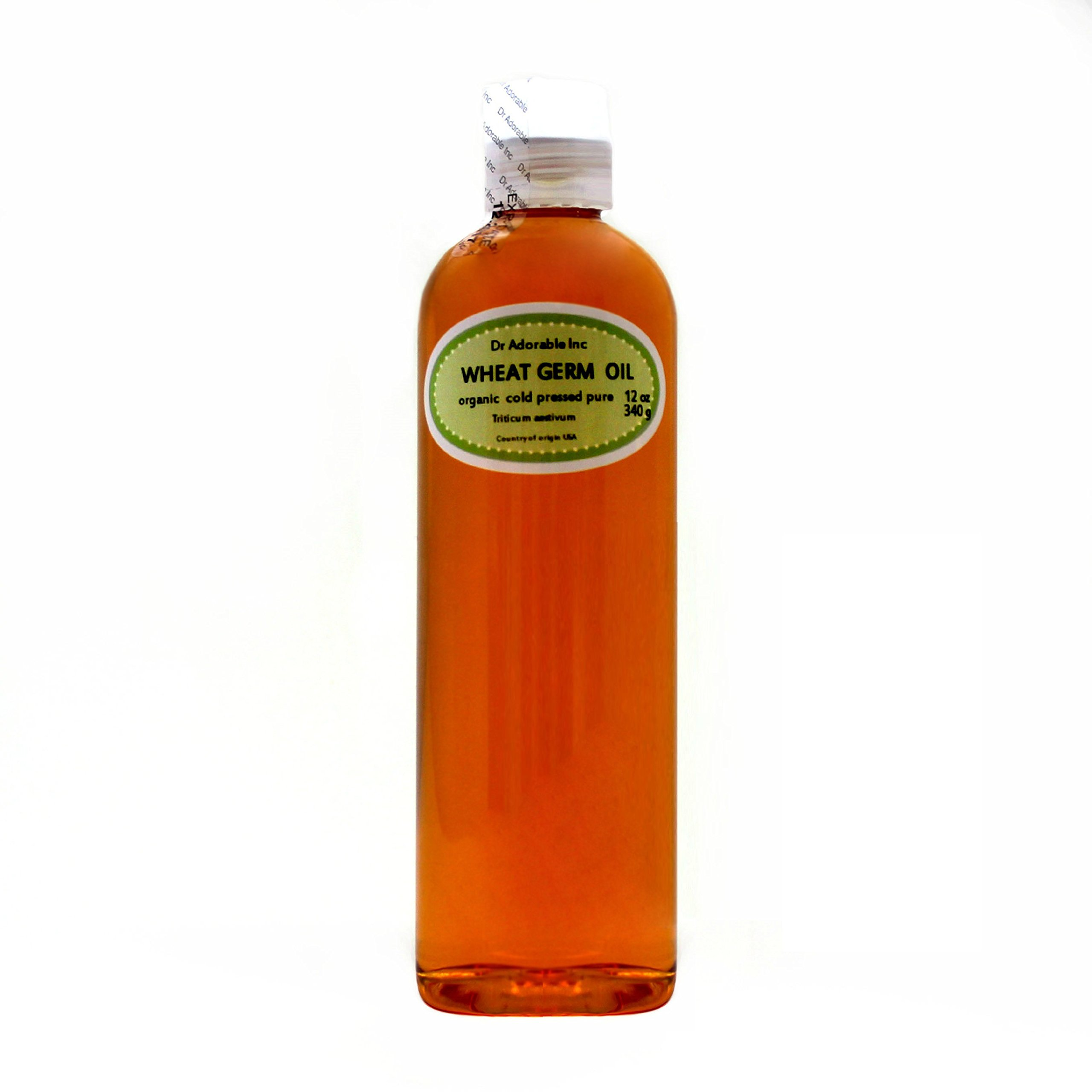 Wheat Germ Oil Unrefined Cold Pressed Organic Pure by Dr.Adorable 12 Oz