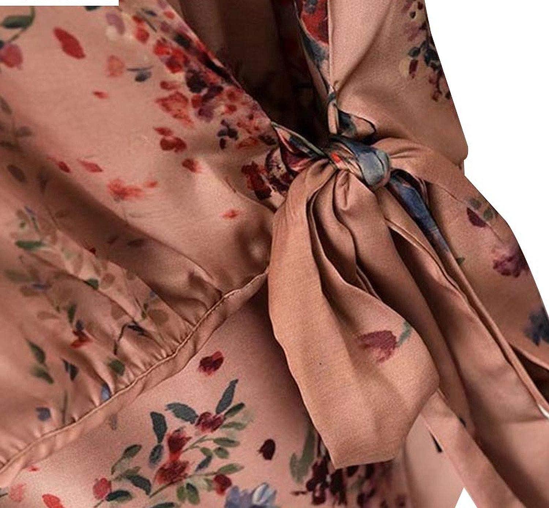 Vintage Bow Tie Bodysuits Long Lantern Sleeve Rompers Elastic Waist Retro Ladies Casual Playsuits