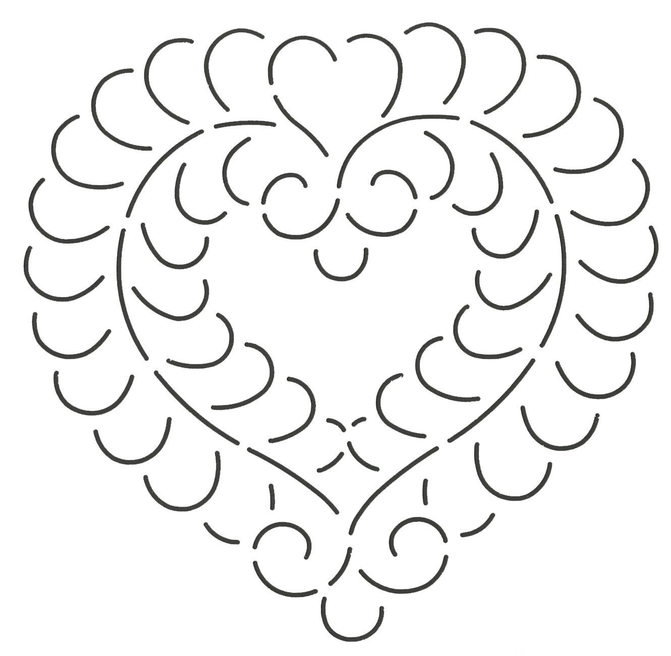Quilting Creations Feather Heart Quilt Stencil