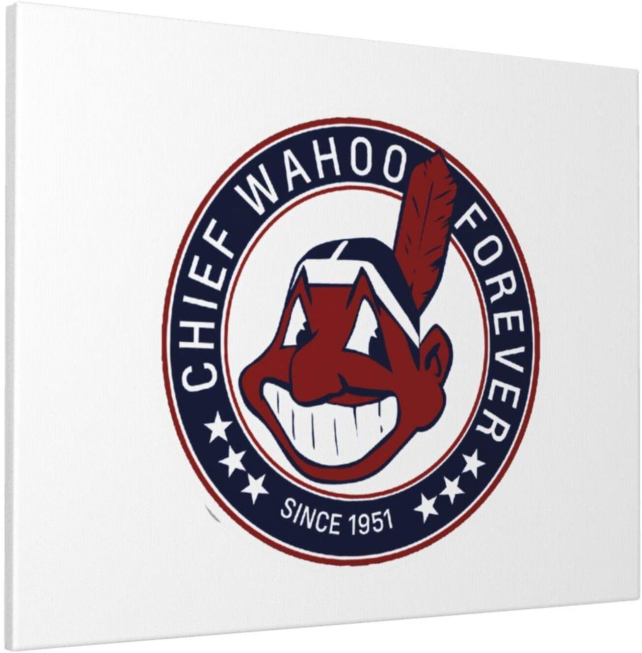 Wehoiweh Long Live Chief Wahoo Decor Frameless Paintings Painting 16x20 in for Living Room Bedroom