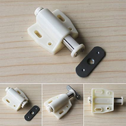 4pcs Push To Open Magnetic Door Drawer Cabinet Latch Catch Touch Kitchen Cupboard Pressure Touch Release Catches Cabinet Doors Push Cupboard Magnetic
