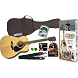Yamaha Gigmaker Standard Acoustic Guitar w/ Gig Bag, Tuner, Instructional DVD, Strap, Strings, and Picks - Natural