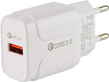 tecnan Cargador rápido QC3.0 USB 3 A 18 W, Fuente de