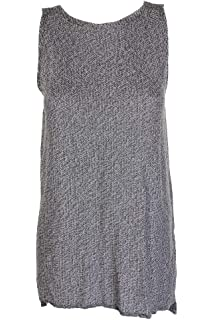 6592833b2b Eileen Fisher New Womens Petite Sleeveless Marled Tencel Tunic Sweater Top  BHFO