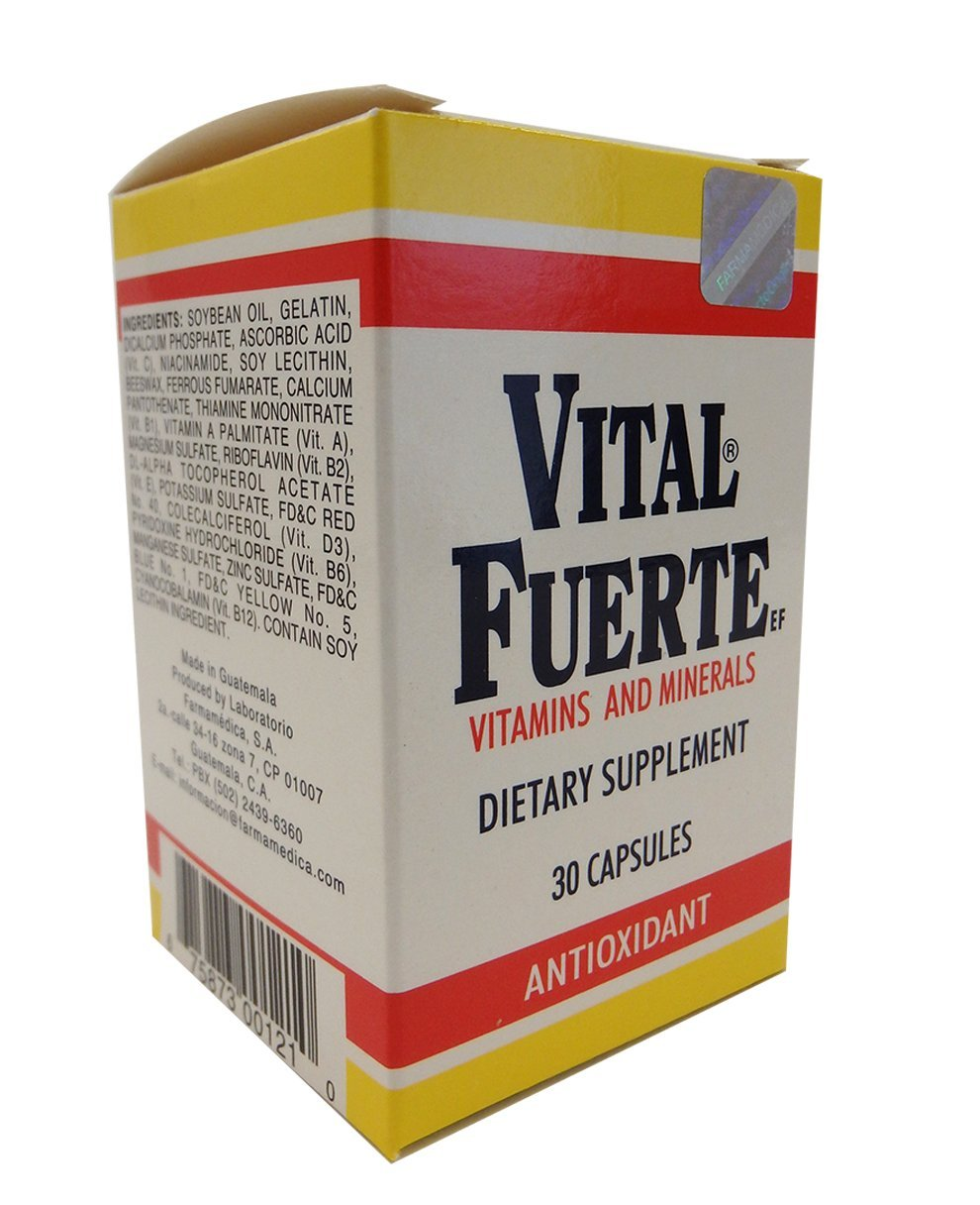 Amazon.com: Vital Fuerte Vitamins Capsules 30.0 CT: Health & Personal Care