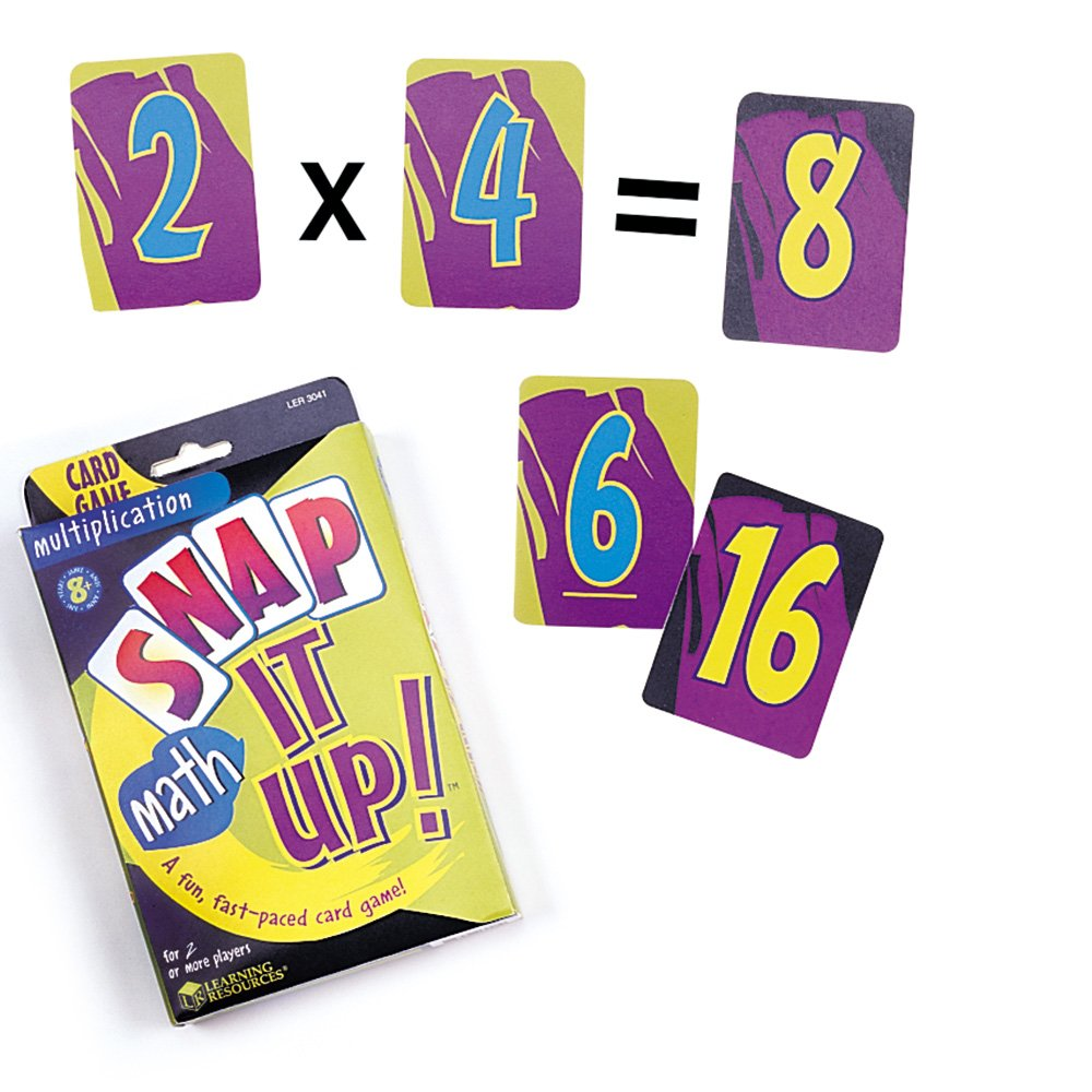 Amazon.com: Learning Resources Snap It Up! Multiplication Card Game ...