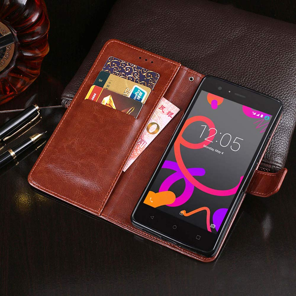 Amazon.com: BQ Aquaris M5 Case, PU Leather Stand Wallet Flip ...