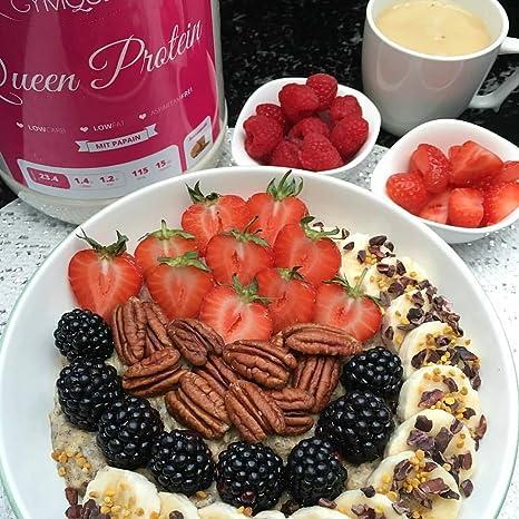 gymqueen Queen proteína Slimfit   proteína Whey   113 Calorías Pro Shake   con papaína   100 g: Amazon.es: Alimentación y bebidas