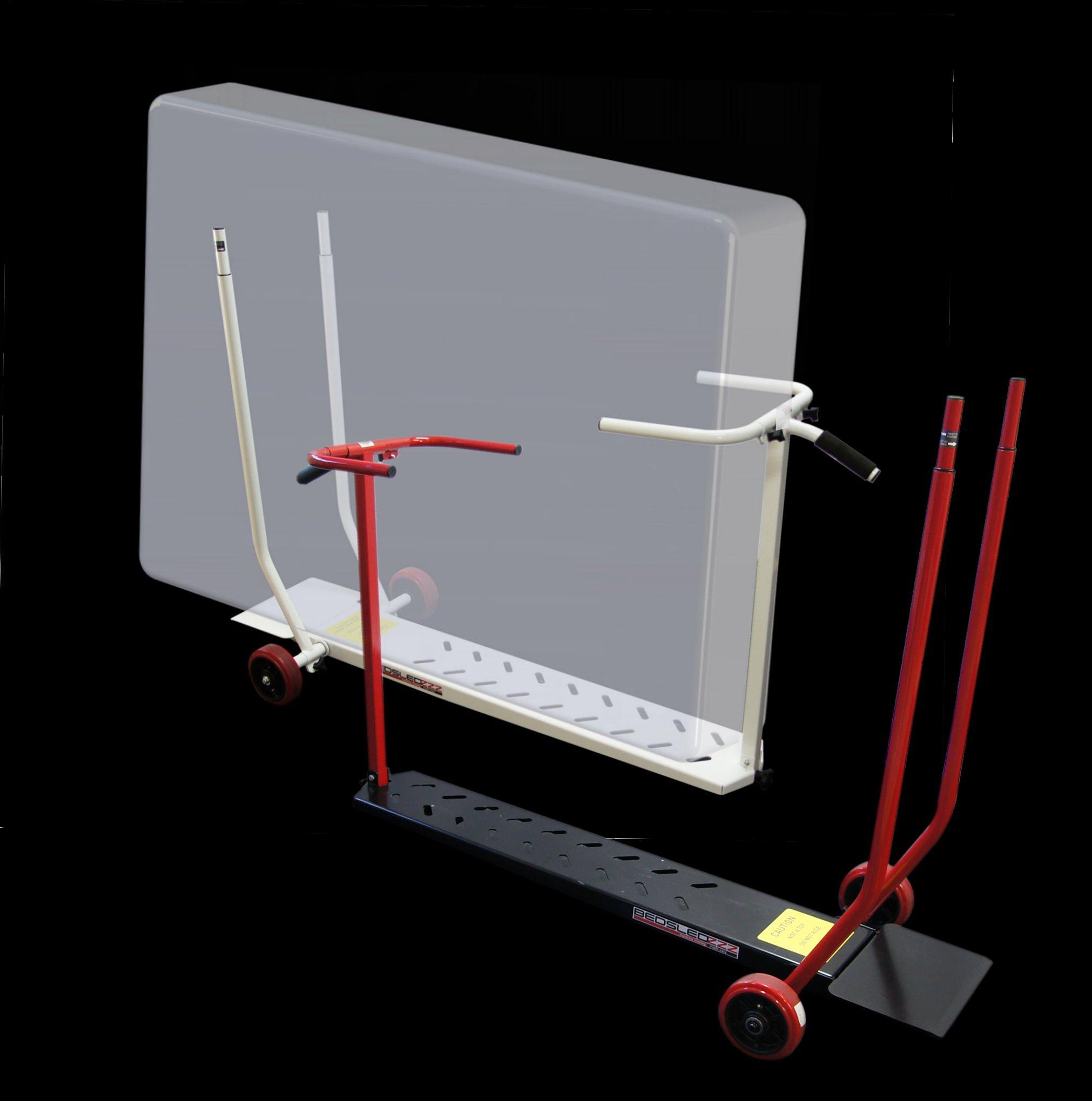Bedsledzzz Mattress Cart Dolly, Hotel, Motel, Moving, Safety Red/Black