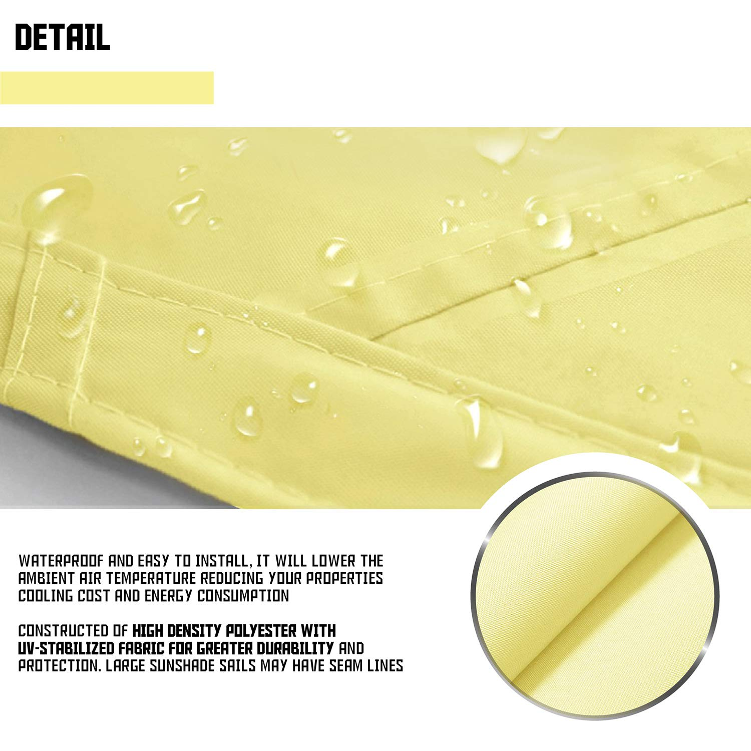 Sombrillas Depot Impermeable Cruved Lado 180 g/m² Personalizar ...