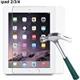 iPad 2 3 4 Screen Protector,TANTEK [HD-Clear][Anti-Scratch][Anti-Glare][Anti-Fingerprint] Tempered Glass Screen Protector for Apple iPad 2 / iPad 3 / iPad 4 (9.7 inch),[Lifetime Warranty]-[1Pack]