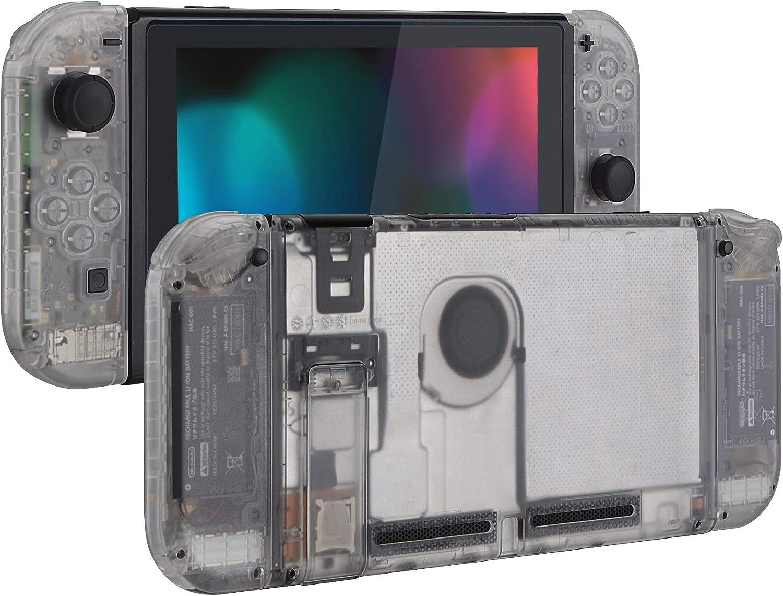 eXtremeRate Carcasa Translúcida para Nintendo Switch Funda Completa Protector para Mando Controlador Consola Joy-con de Nintendo Switch Accesorios Shell Placa de reemplazo con Botón Completo(Claro): Amazon.es: Electrónica