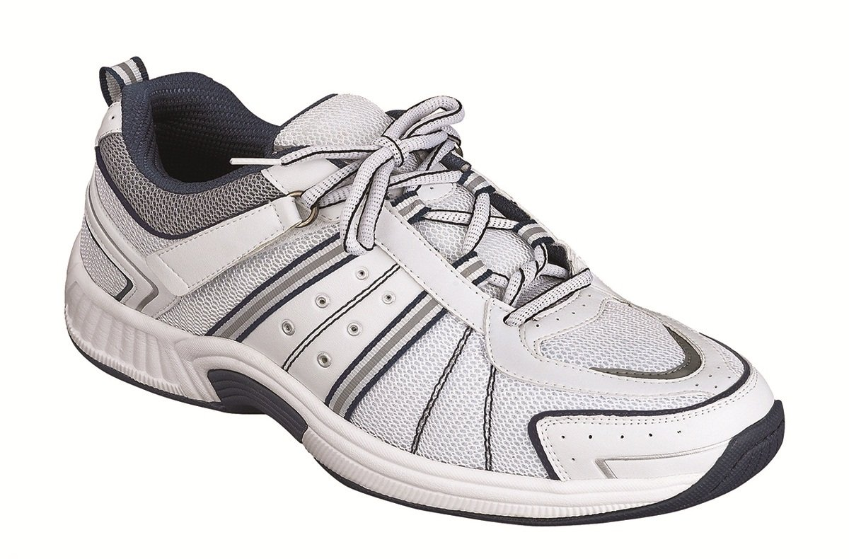 Orthofeet Pain Relief Arch Support Orthopedic Sneakers Diabetic Athletic Mens Strap Shoes Monterey Bay White by Orthofeet