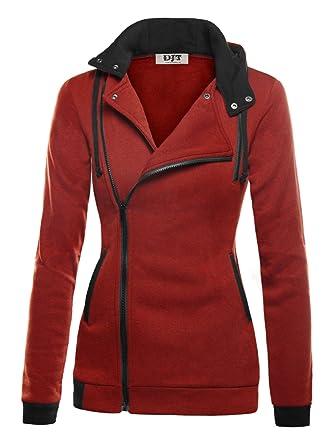 8fb424a792ab2 DJT Mujeres Chaqueta Corta con Capucha Estilo Casual Jacket Sportswear   Amazon.es  Ropa y accesorios