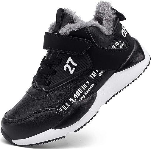 TQGOLD® Chaussure Hiver Garcon Fille Botte de Neige Enfants Baskets Chaudes Fourrées Sport Sneakers