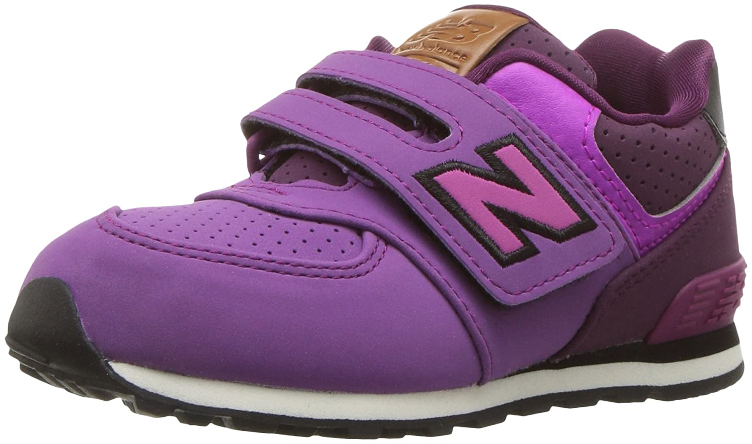 New Balance KV574YTY, Zapatillas infantil 35.5 EU|Morado (Hunter/Purple/Black)