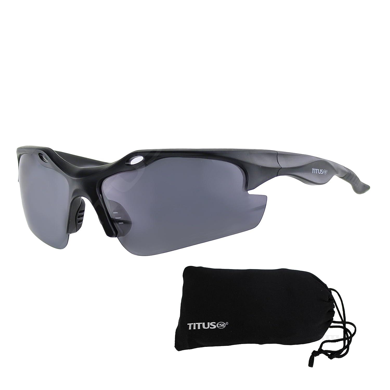 Sports Riders Safety Glasses Titus G18 Polarized Motorsport Dark Smoke Sunglasses
