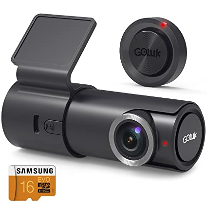 Goluk T2 FHD 1080P 152° WDR Car Dash Cam with G-sensor for Real Time Video Sharing