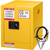 Mophorn Flammable Cabinet 17' x 17' x 18', Galvanized Steel Safety Cabinet, Adjustable Shelf Flammable Storage Cabinet…