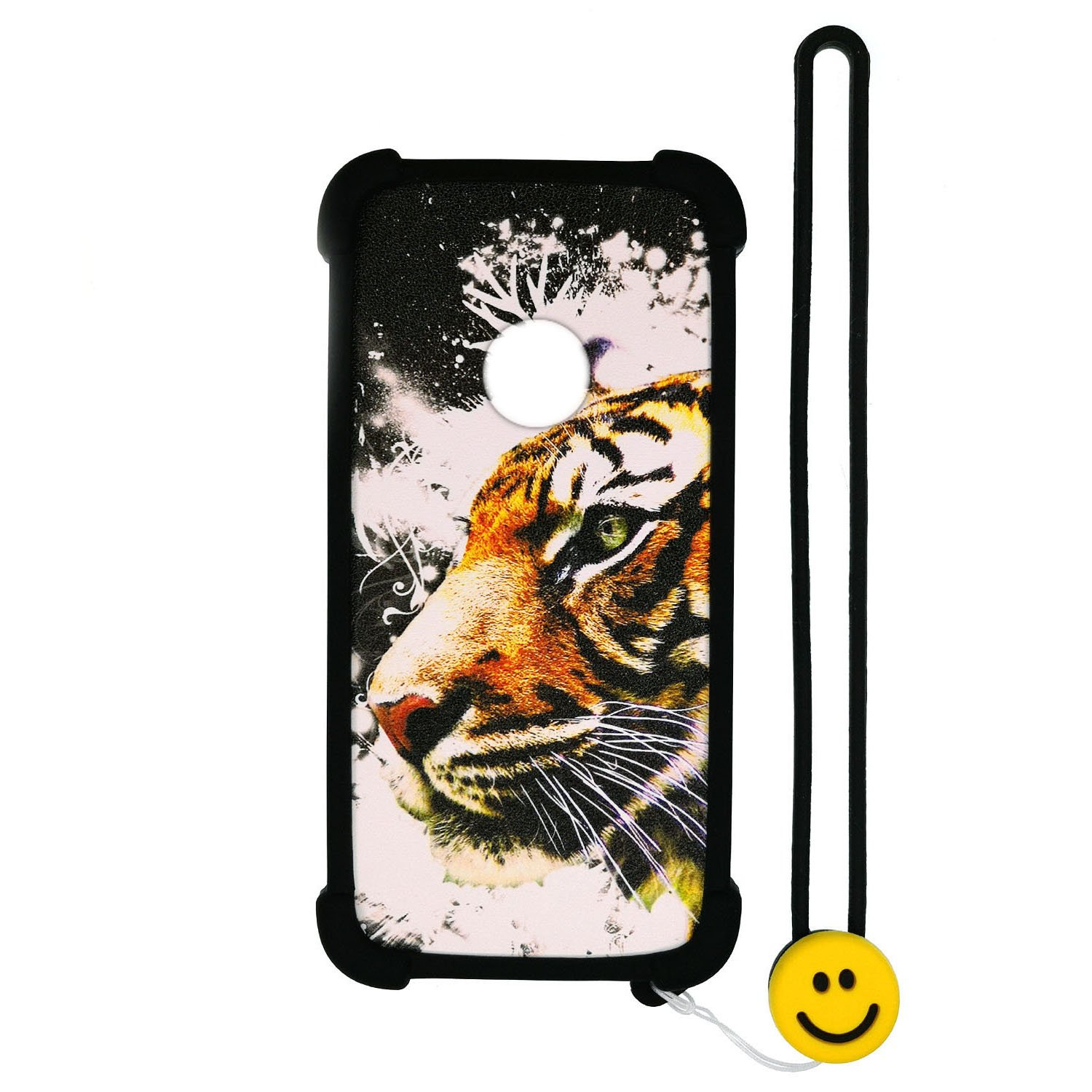 Case for ZTE N818S QLink Wireless Case Silicone Border + PC Hard backplane Stand Cover Luminous Effect LH