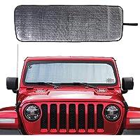 Savadicar Windshield Sun Shade for 2018-2020 Jeep Wrangler JL JLU & Gladiator JT, Sunshades Heat Shield, Aluminum Foil…