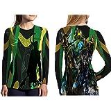 Marvel Villains T-Shirt Loki Magneto Thanos Galactus Print Sublimation Woman Top Size : S