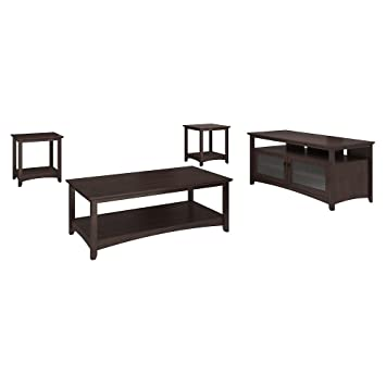 Amazoncom Buena Vista TV Stand Coffee Table and Set of 2 End
