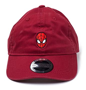 960e24a2 Marvel Spiderman Baseball Cap Dad Cap Mask Logo Official Red Strapback at  Amazon Men's Clothing store: