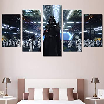 Amazoncom Canvas Painting Home Decoration Wall Art 5 Panel Star