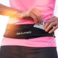 Running Belt, Fitness Belt, Flip Waist Belt with Key Clip, Fits All Phone Sizes. Unisex. for Gym Workouts, Exercise…