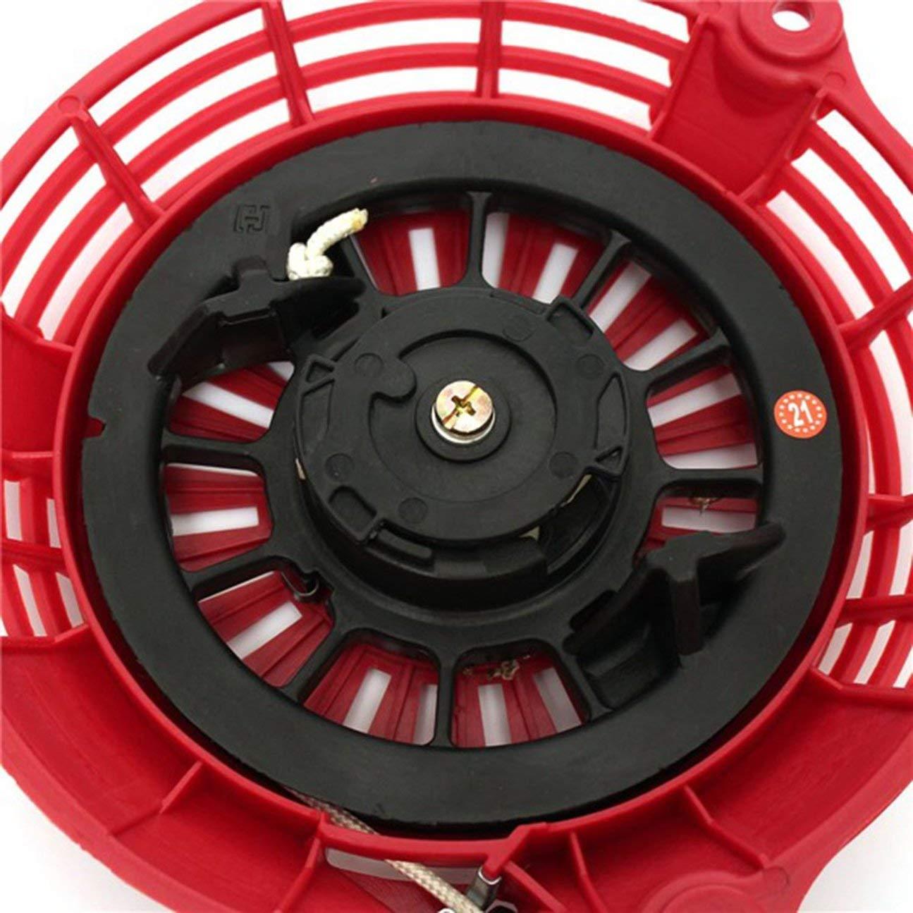 Color rojo y negro Arrancador de retroceso Pull Start para Honda GCV135 GCV160 EN2000 HRU19 Motor Starter