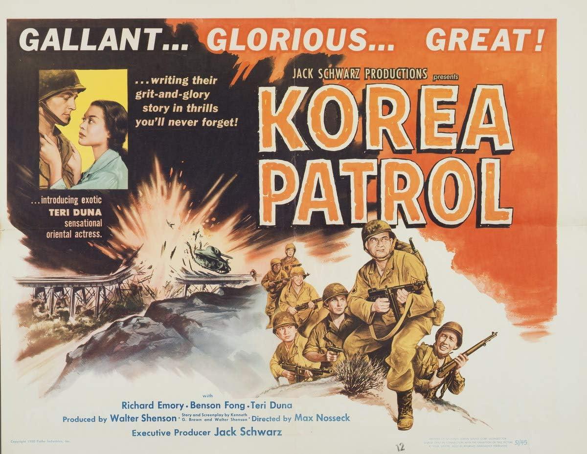 Berkin Arts Movie Poster Giclee Print On Canvas-Film Poster Reproduction Wall Decor(Korea Patrol 2) #XFB