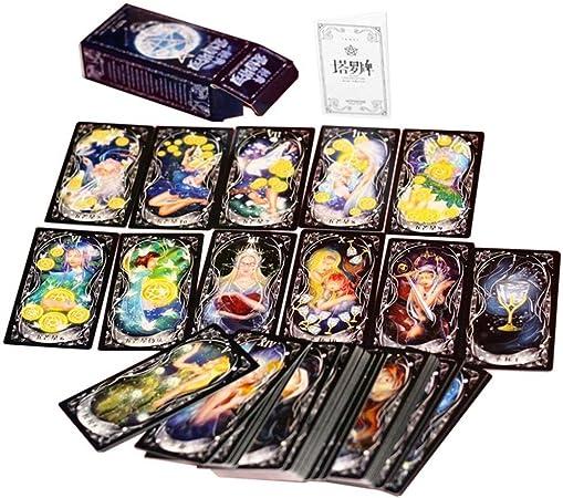 Kongqiabona-UK Diseño Divertido Tarot portátil Juego Familia Amigos Entretenimiento Leer Mítico Destino Adivinación Juegos de Mesa Cartas: Amazon.es: Hogar