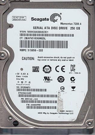 ST9250410AS 5VG WU PN 9HV142 022 FW 0006HPM1 Seagate 250GB