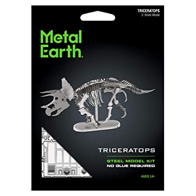 Metal Earth Fascinations Triceratops Skeleton 3D Metal Model Kit: Toys & Games