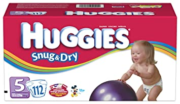 Amazon.com: Huggies Snug & Dry Diapers, Size 5, 112-Count: Health ...