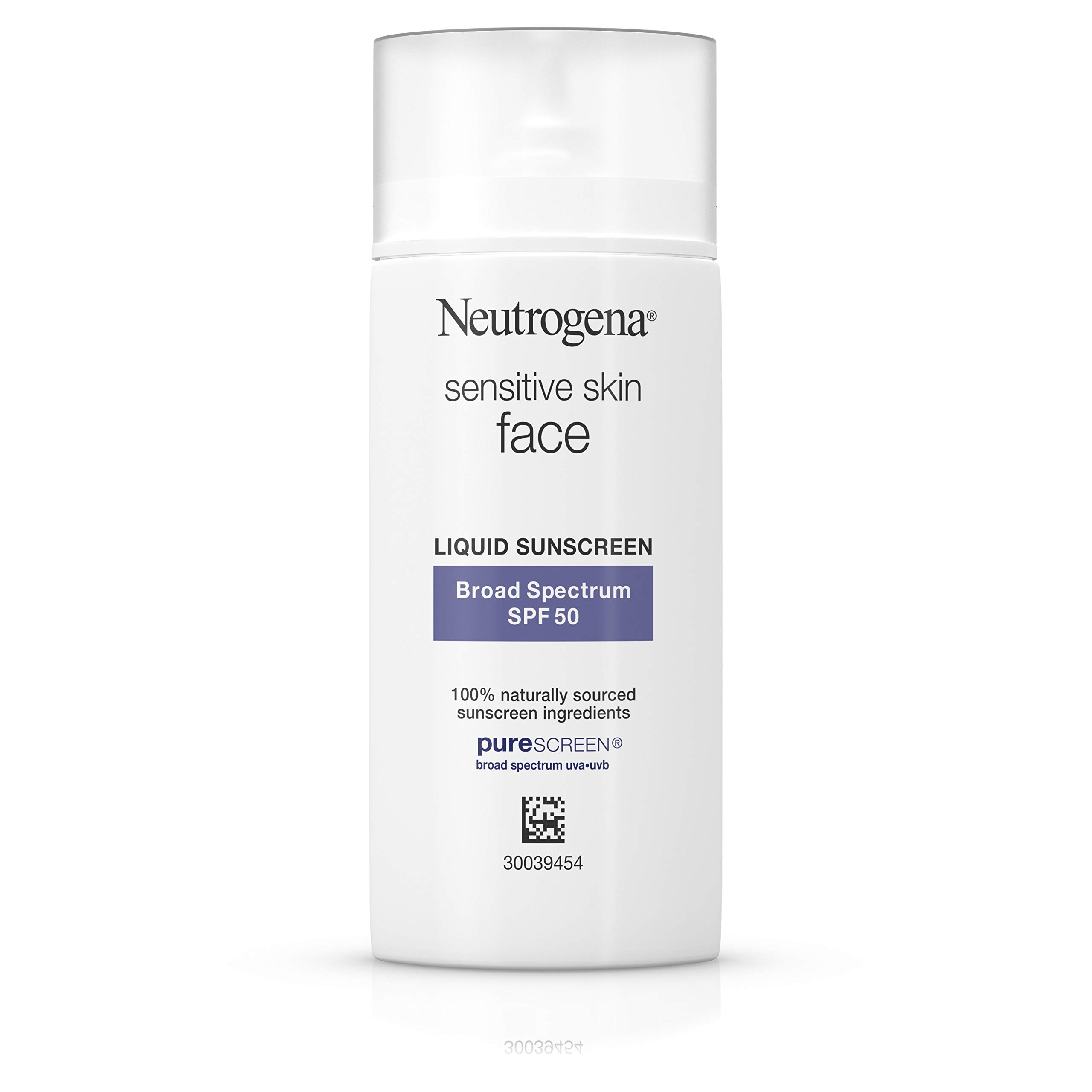 Neutrogena Face Sunscreen for Sensitive Skin from Naturally Sourced Ingredients with Zinc Oxide, Broad Spectrum SPF 50, 1.4 fl. Oz by Neutrogena