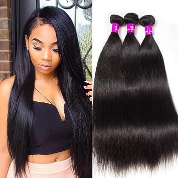 Amazon.com   Tinashe 10A Brazilian Straight Hair Bundles Virgin Human Hair  Extensions Sale Christmas Gift for Black Women (16 16 16)   Beauty d0cda6cce4