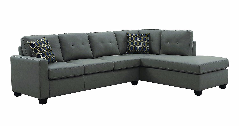 Coaster Home Furnishings 501687 Living Room Sectional Sofa, Taupe/Dark Brown