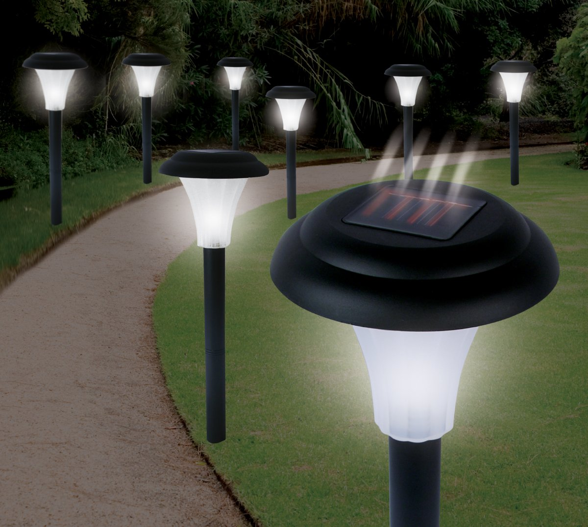 Ideaworks JB5629 Solar-Powered LED Accent Light, Set of 8 - String ...