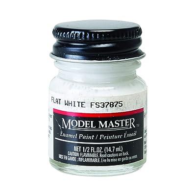 Testor Corp. Flat White (FS 37875) 1/2 oz Enamel Paint Bottle: Toys & Games