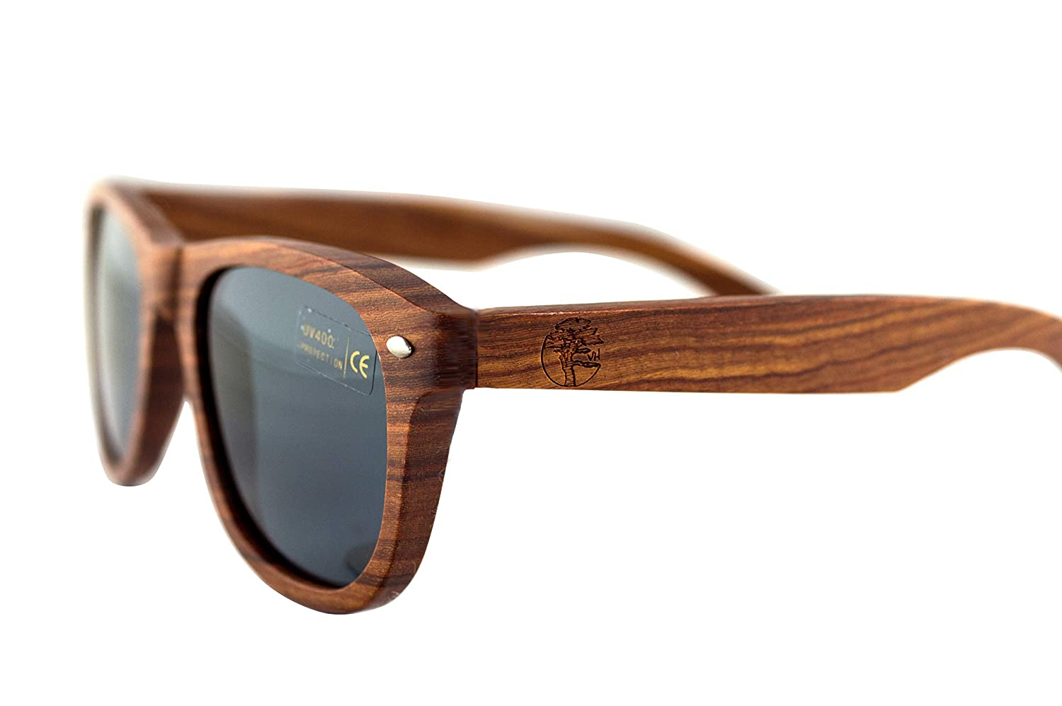 607e21d78f6 Amazon.com  Real Solid Handmade Wooden Sunglasses for Men