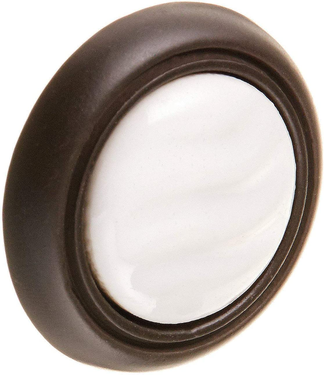Cabinet Knobs 1-3//8 in. 1 piece Packaging May Vary Round Ceramic Inset Drawer Knobs Cabinet Hardware Statuary Bronze