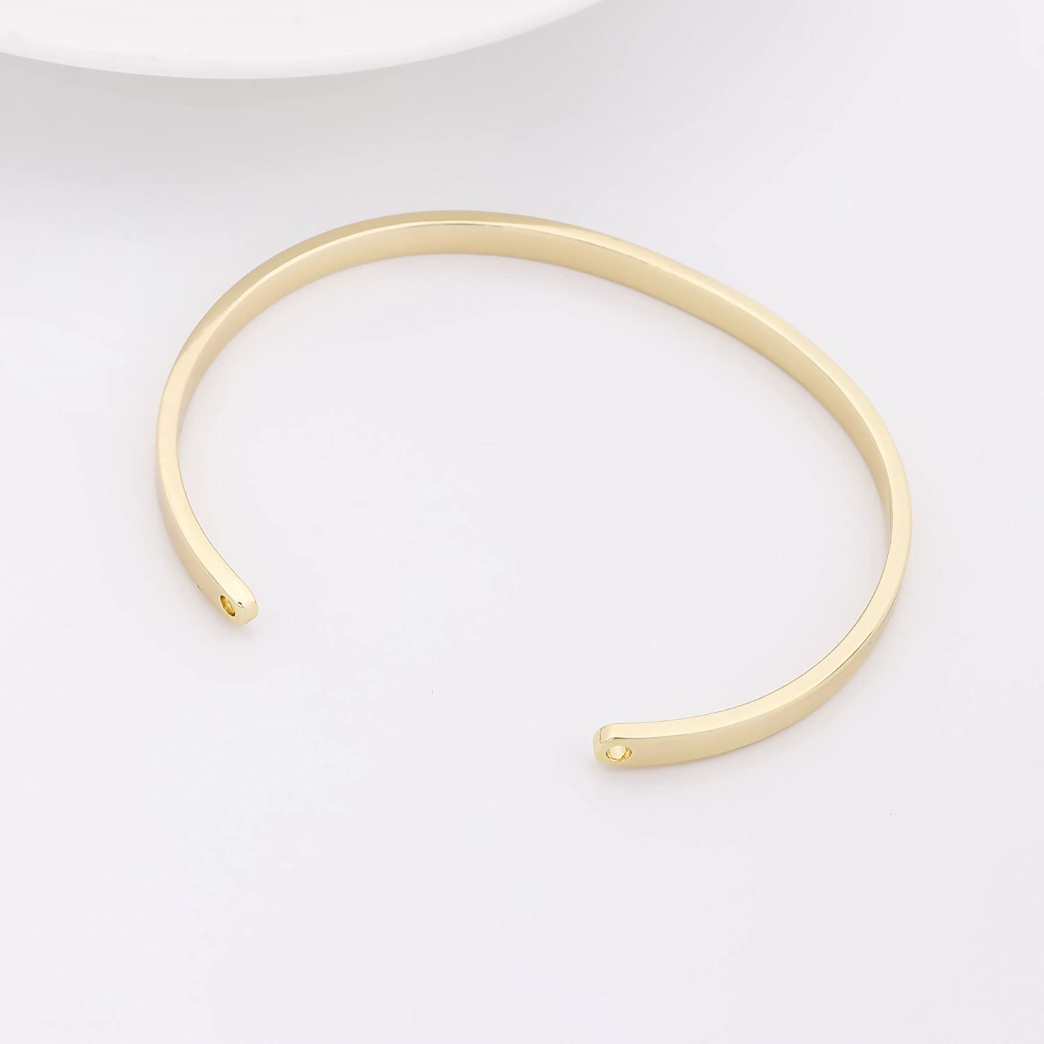 GUANDU Simple Style You Are Not Alone Cuff Bracelet for Women Girls Gifts