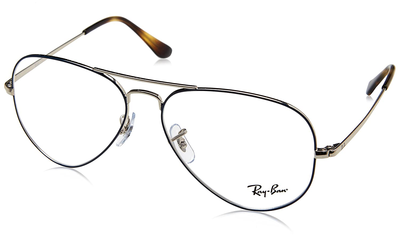 Ray-Ban occhiali aviator rx6489 in argento sull'azzurro RX6489 2970 55 8053672833317