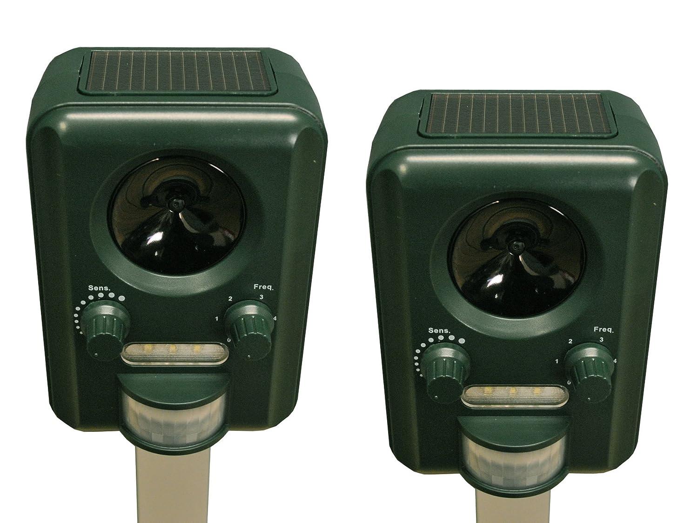 Selections GFA805 - Juego de 2 repelentes por ultrasonidos para gatos (funcionan con luz solar, baterías incluidas): Amazon.es: Productos para mascotas
