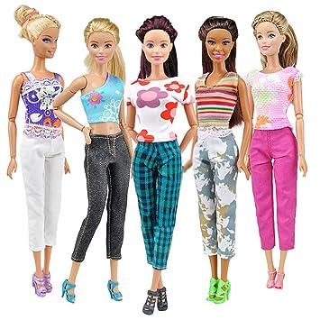 Leggings /& T-Shirt Set for Barbie ~ Soft Turquoise Blue ~ Fashion Doll Clothes