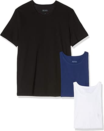 BOSS T-Shirt RN 3p Co Camiseta para Hombre, pack de 3: Amazon.es: Ropa y accesorios